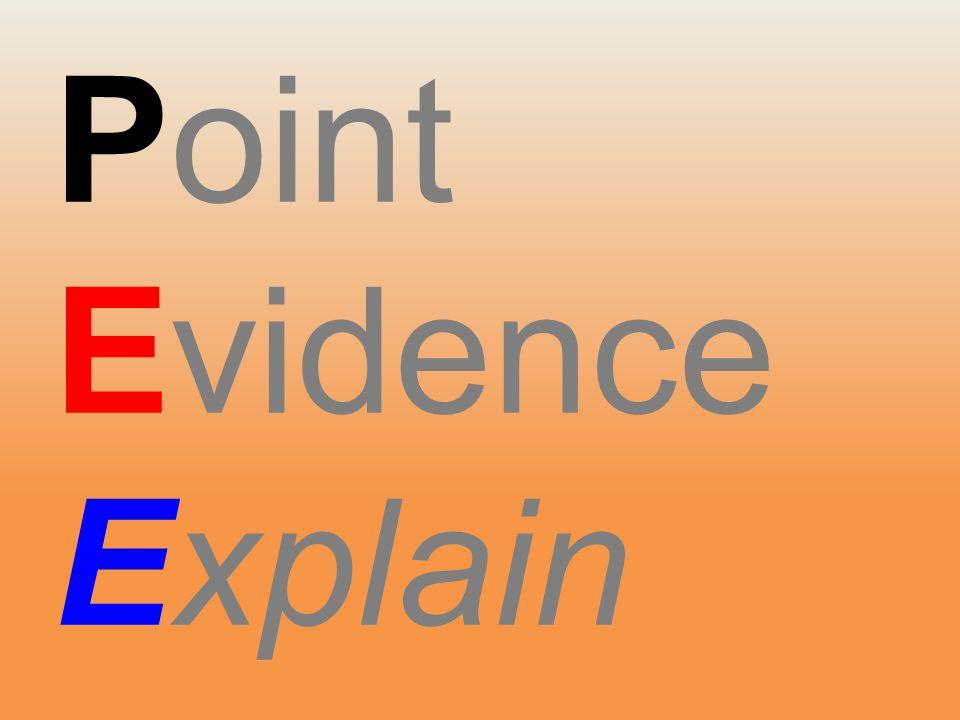 Point Evidence Explain Evidence Explain Evidence Explain