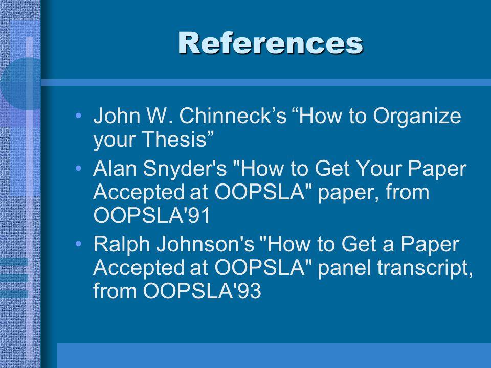 References John W.