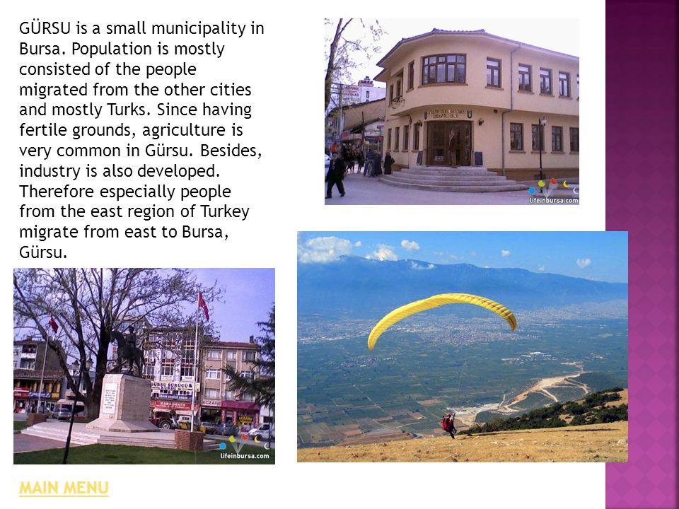 GÜRSU is a small municipality in Bursa.
