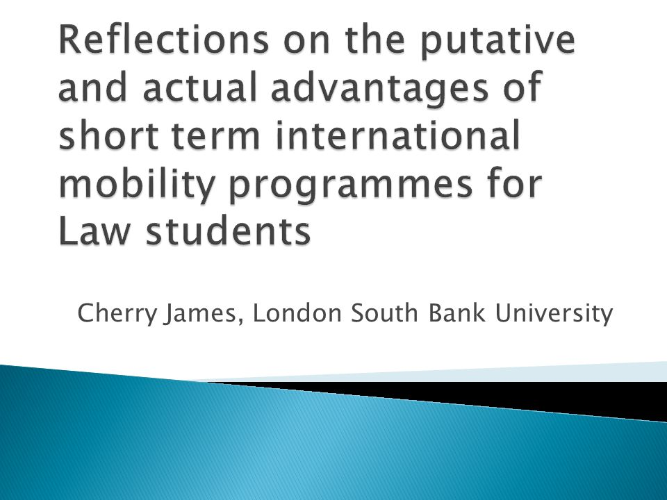 Cherry James, London South Bank University