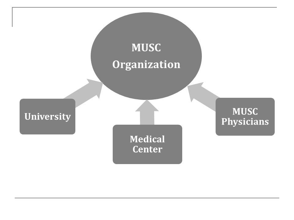 MUSC Organization University Medical Center MUSC Physicians
