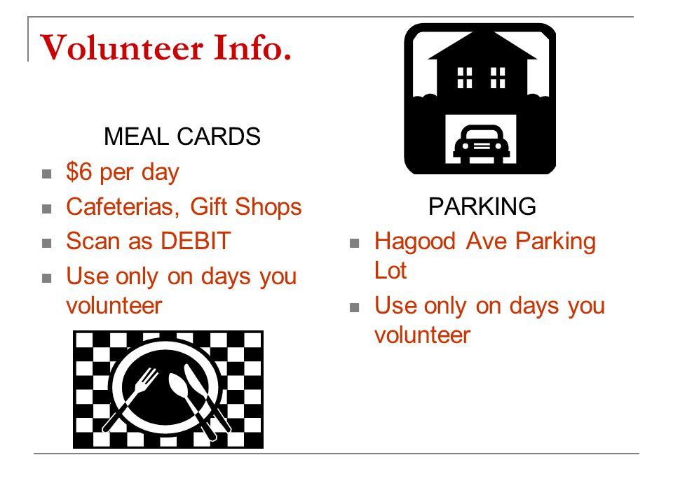 Volunteer Info.