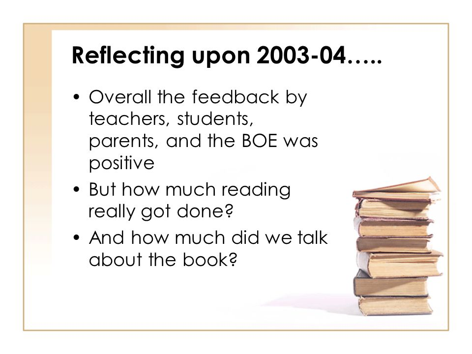 Reflecting upon 2003-04…..