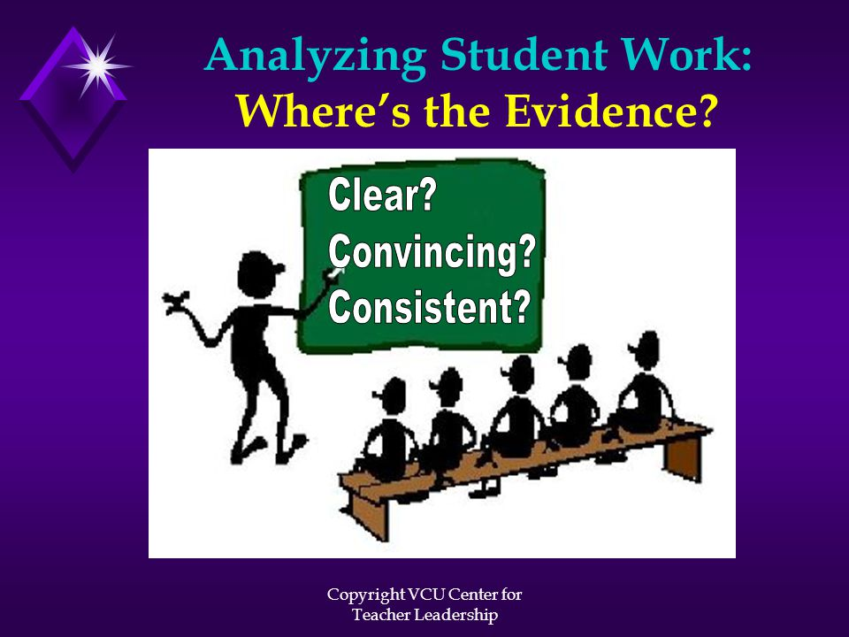 Analyzing Student Work: Where's the Evidence?