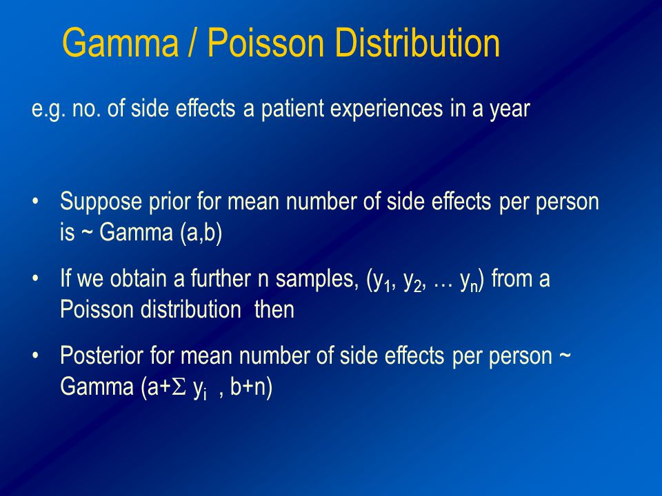 Gamma / Poisson Distribution e.g. no.