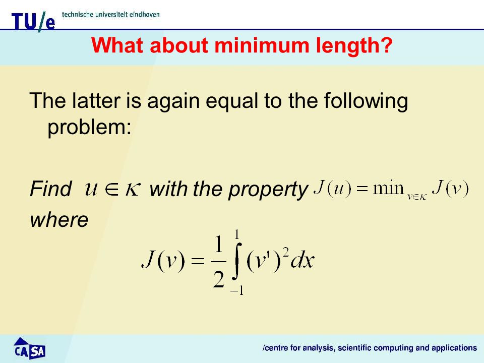 What about minimum length.