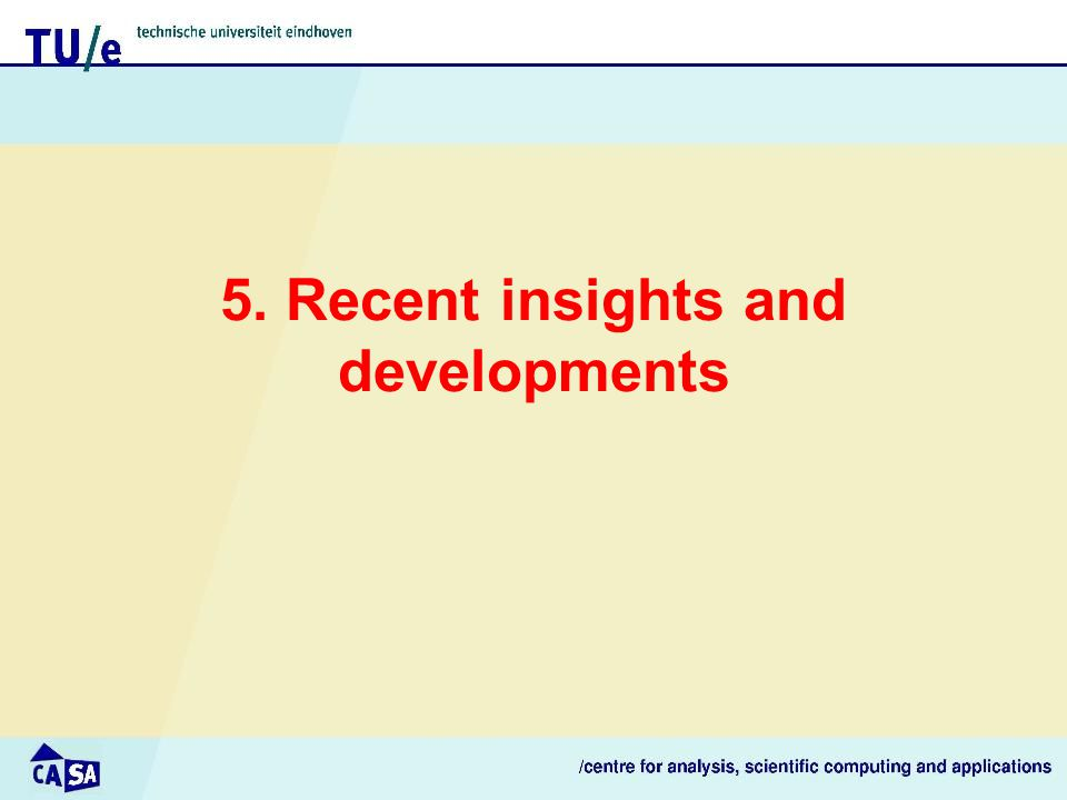 5. Recent insights and developments
