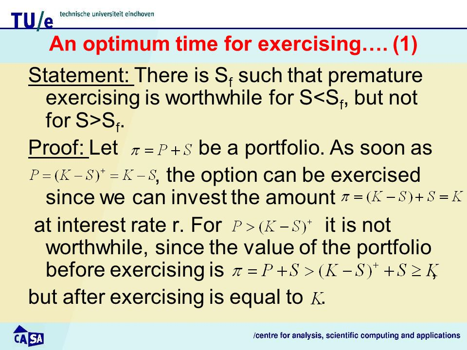 An optimum time for exercising….