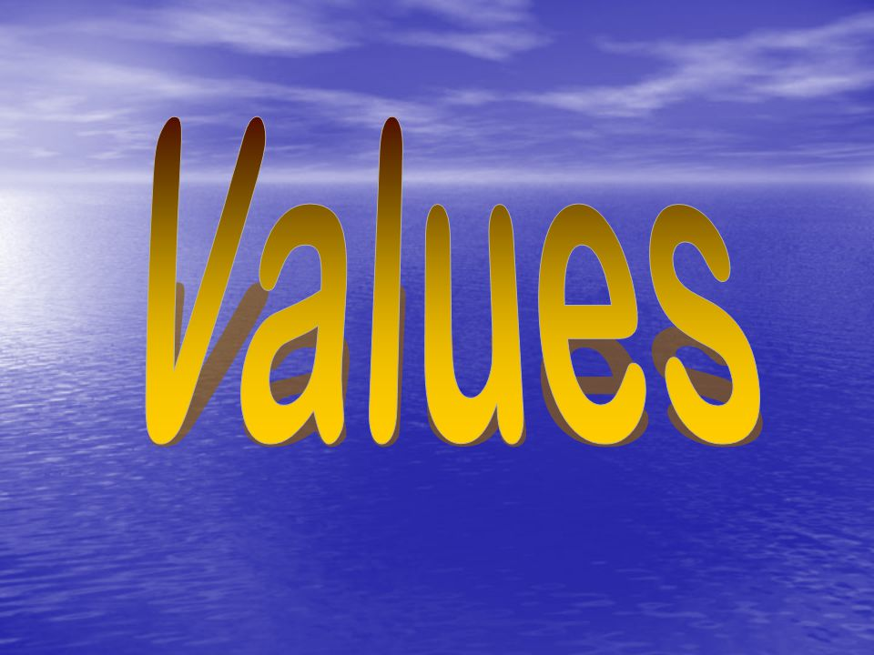 What is a value.Qualities, characteristics, or ideas about which we feel strongly.