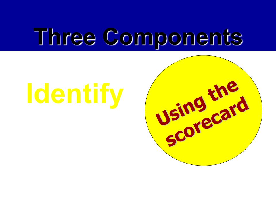 Identify Three Components Using the scorecard