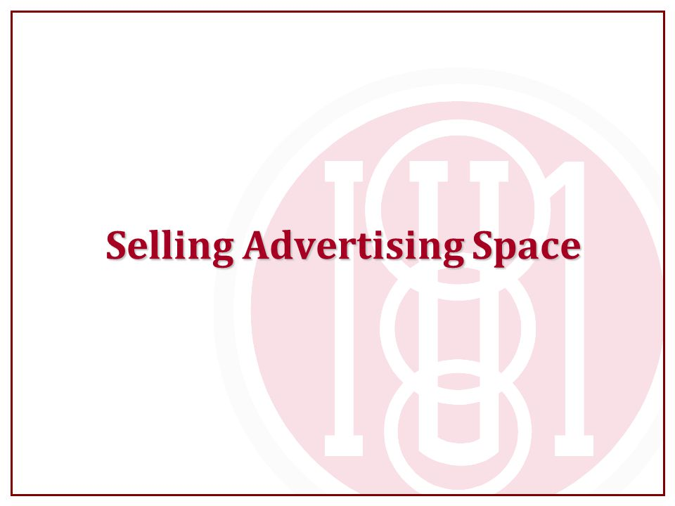 Selling Advertising Space