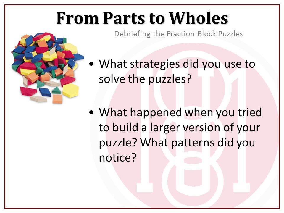 What strategies did you use to solve the puzzles.