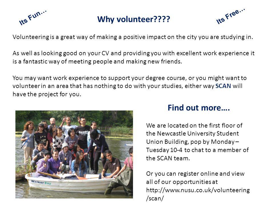 Why volunteer .