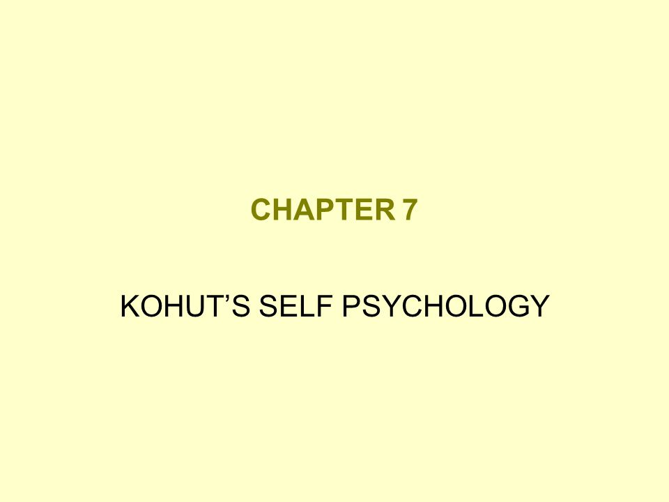 Self psychology Theory that the self is the center of psychological motivation, organization, and change in personality.