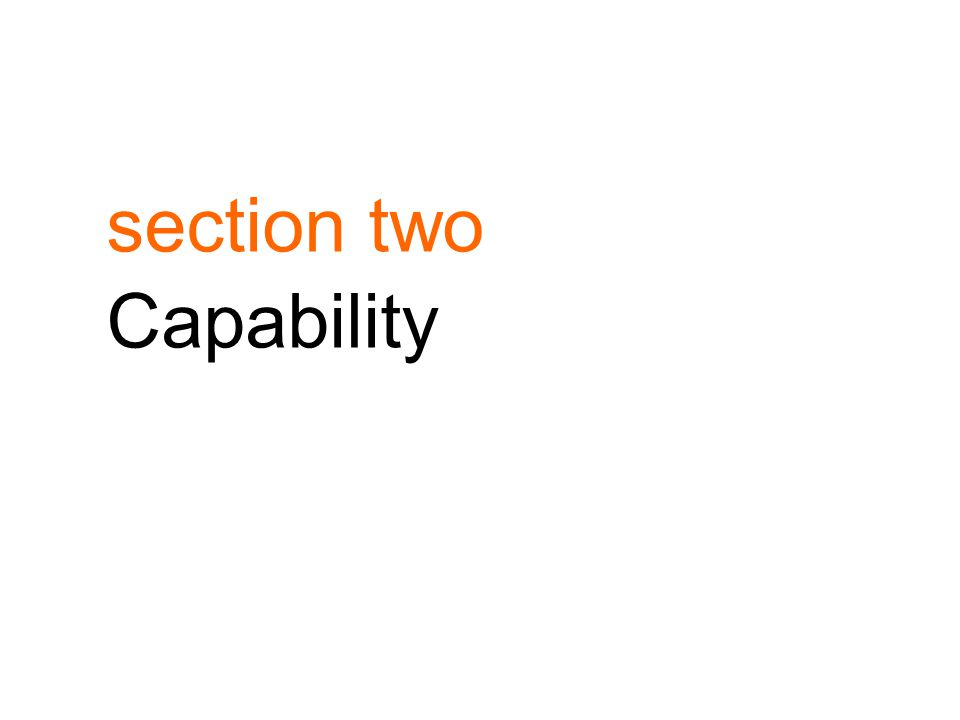 section two Capability