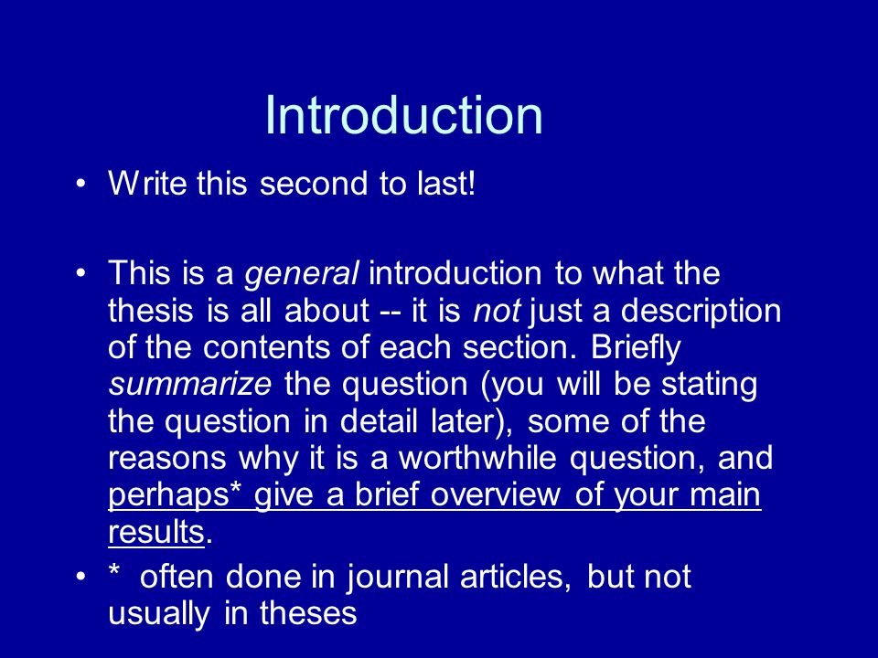 introduction to thesis proposal Receive dissertation writing help, statistics consultation, thesis editing & proofreading, dissertation topics & ideas, proposal development services & more.