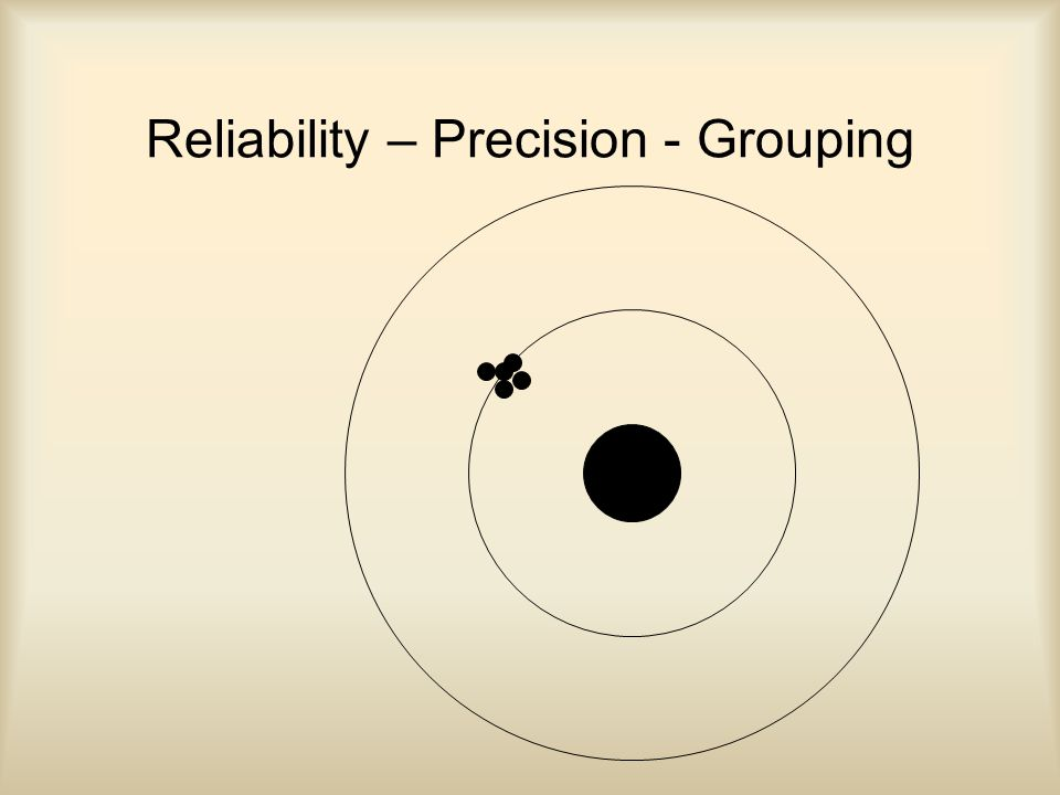Reliability – Precision - Grouping