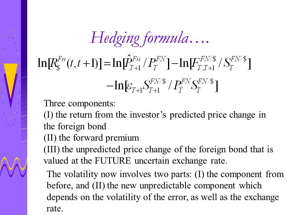 Hedging formula….