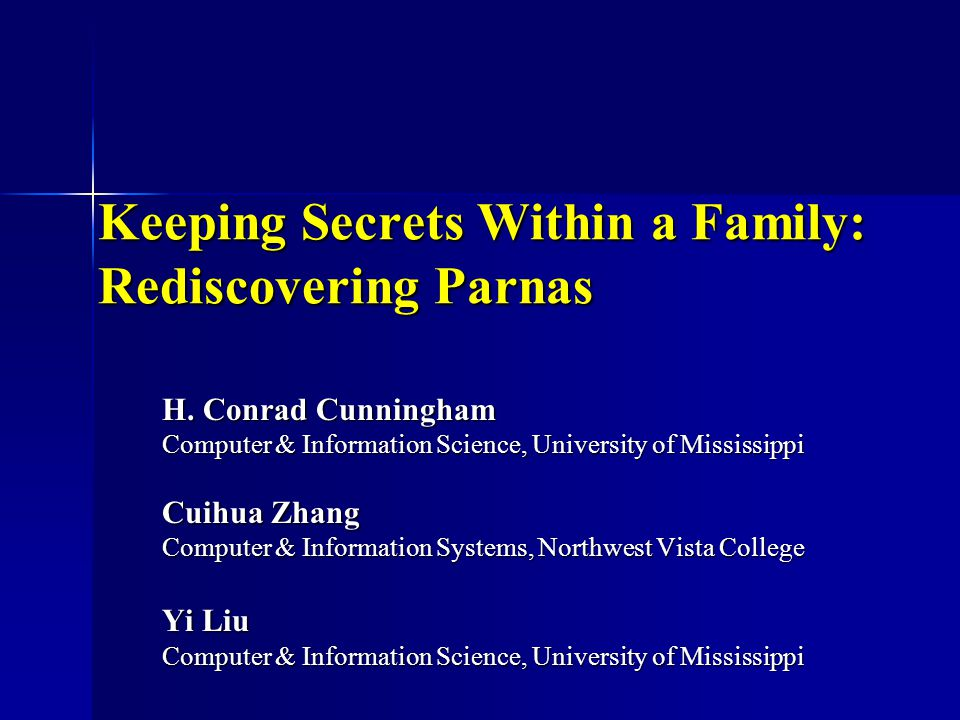 2 Program Family Set of programs sharing many common properties sharing many common properties worthwhile to study as a group before each individually worthwhile to study as a group before each individually David Parnas: If you are developing a family of programs, you must do that consciously, or you will incur unnecessary long-term costs.