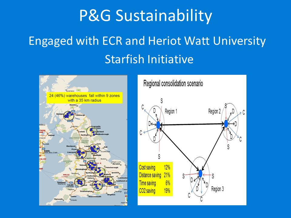 P&G Sustainability Engaged with ECR and Heriot Watt University Starfish Initiative