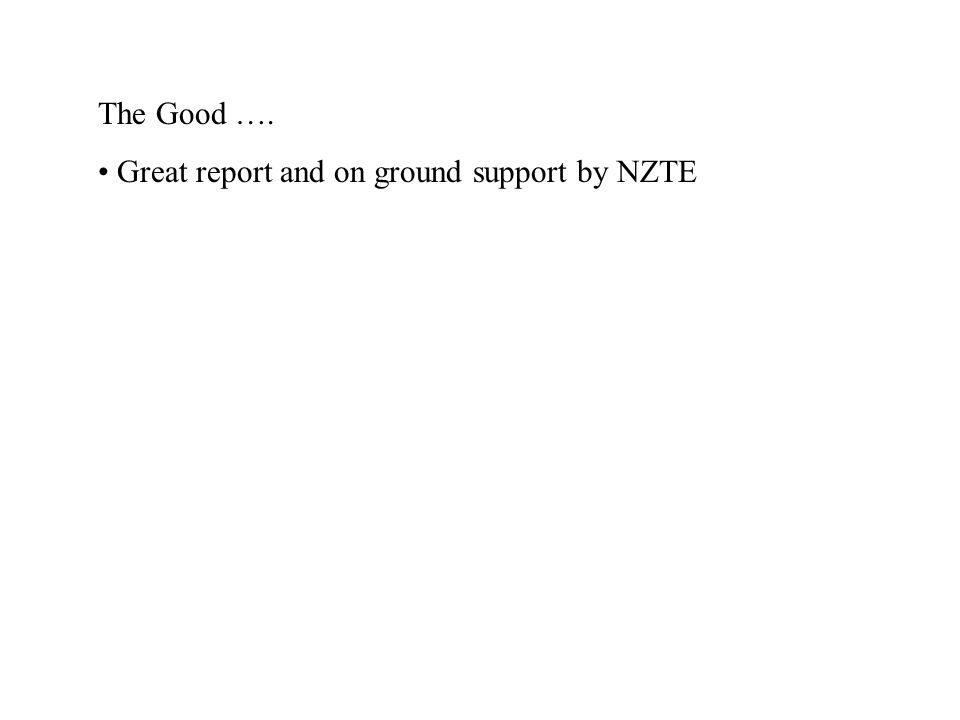 Great report and on ground support by NZTE