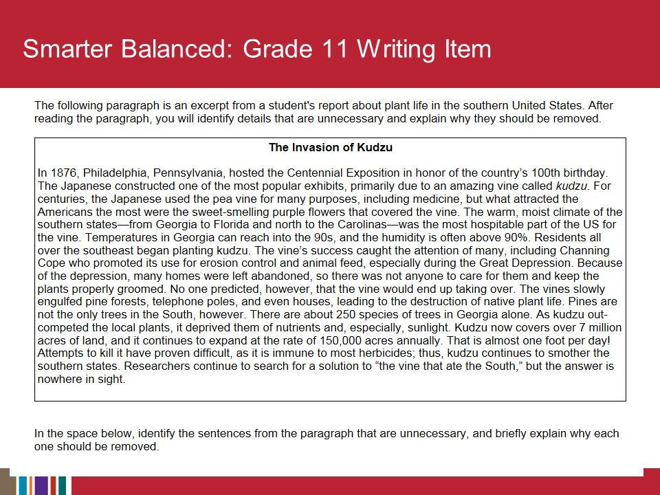 Smarter Balanced: Grade 11 Writing Item