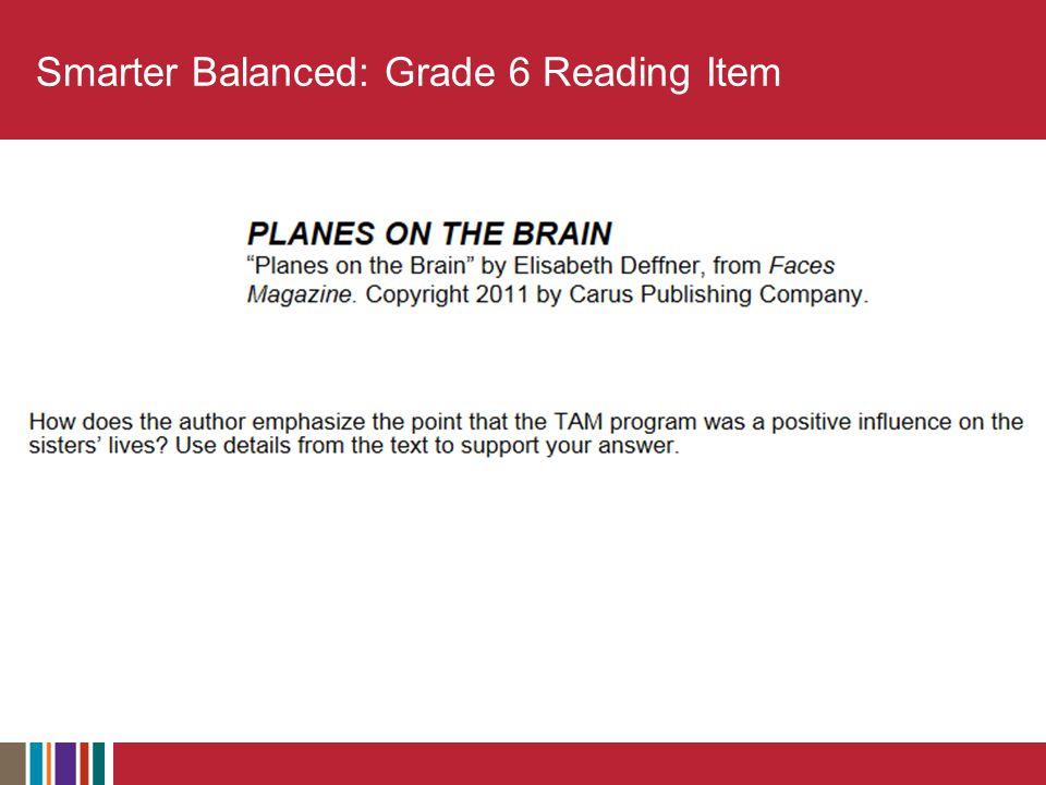 Smarter Balanced: Grade 6 Reading Item