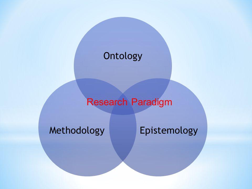 Ontology EpistemologyMethodology Research Paradigm