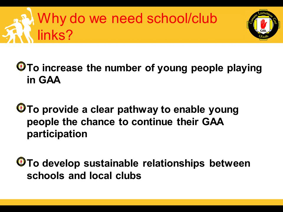 Why do we need school/club links.