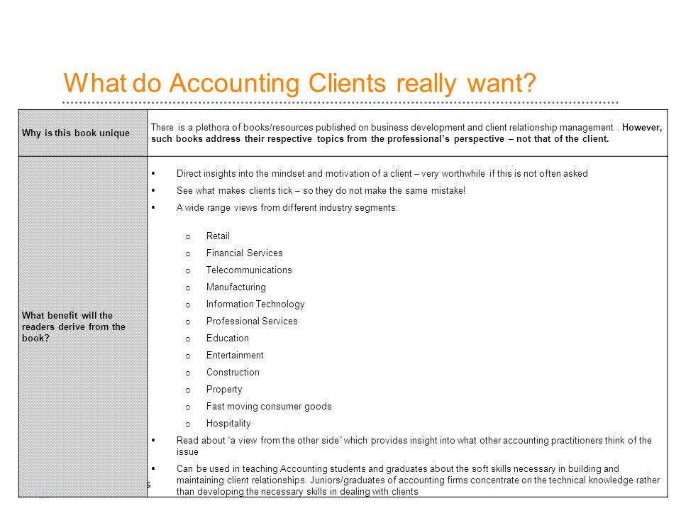 What do Accounting Clients really want.