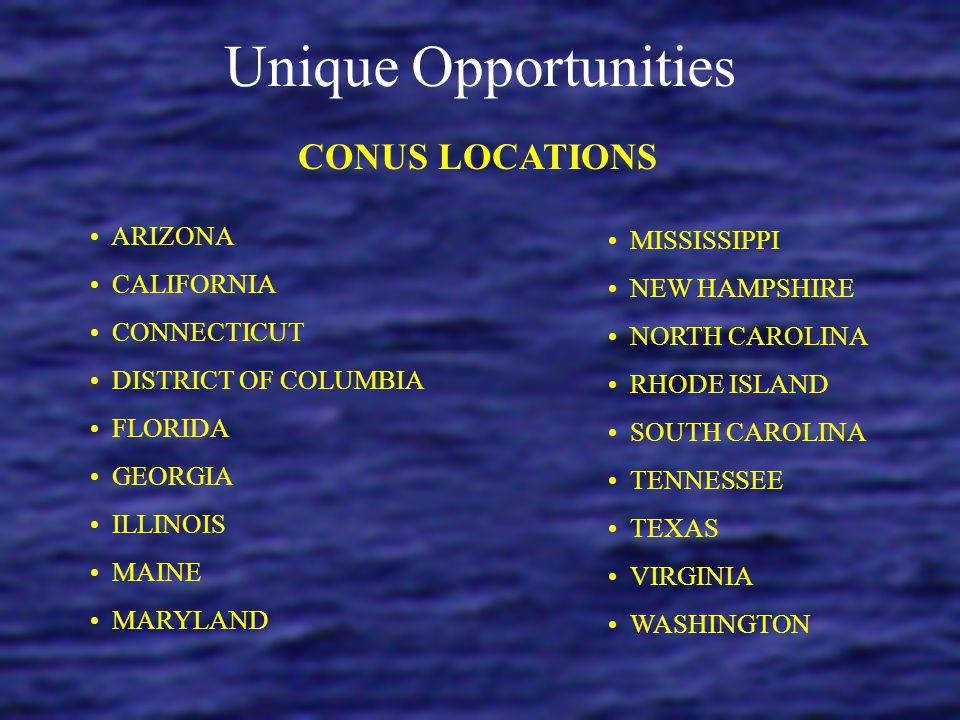 Unique Opportunities CUBA (GUANTANAMO BAY) GUAM (AGANA HEIGHTS) HAWAII (PEARL HARBOR) ITALY (NAPLES AND SIGONELLA) JAPAN (YOKOSUKA, IWAKUNI, OKINAWA)