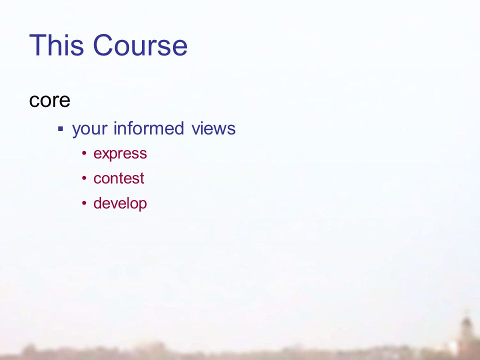 This Course core  your informed views express contest develop