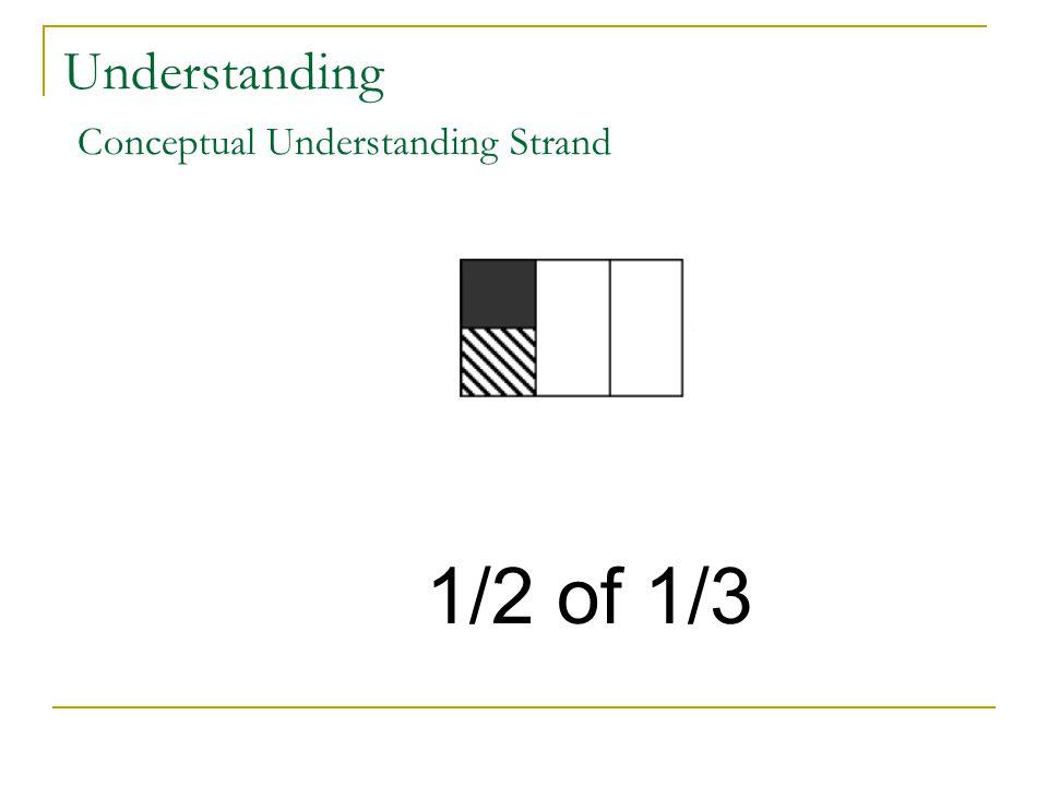 Understanding Conceptual Understanding Strand 1/2 of 1/3