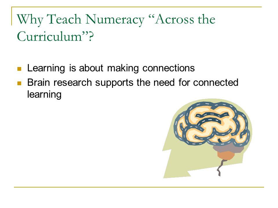 Why Teach Numeracy Across the Curriculum .