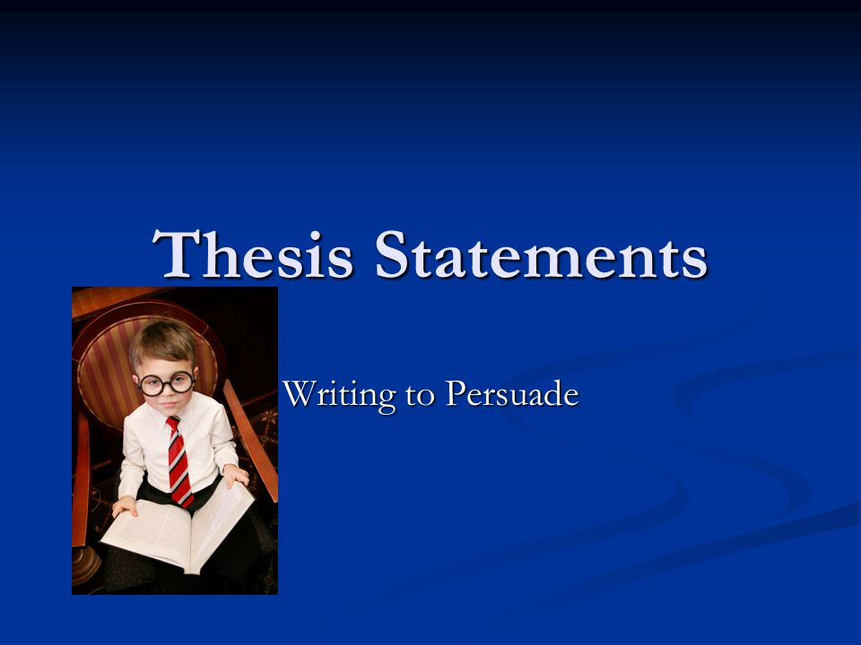 What is a thesis statement.Tells your reader the main point or controlling idea of your essay.
