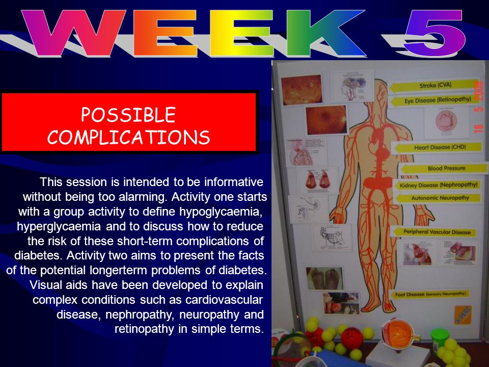POSSIBLE COMPLICATIONS This session is intended to be informative without being too alarming.