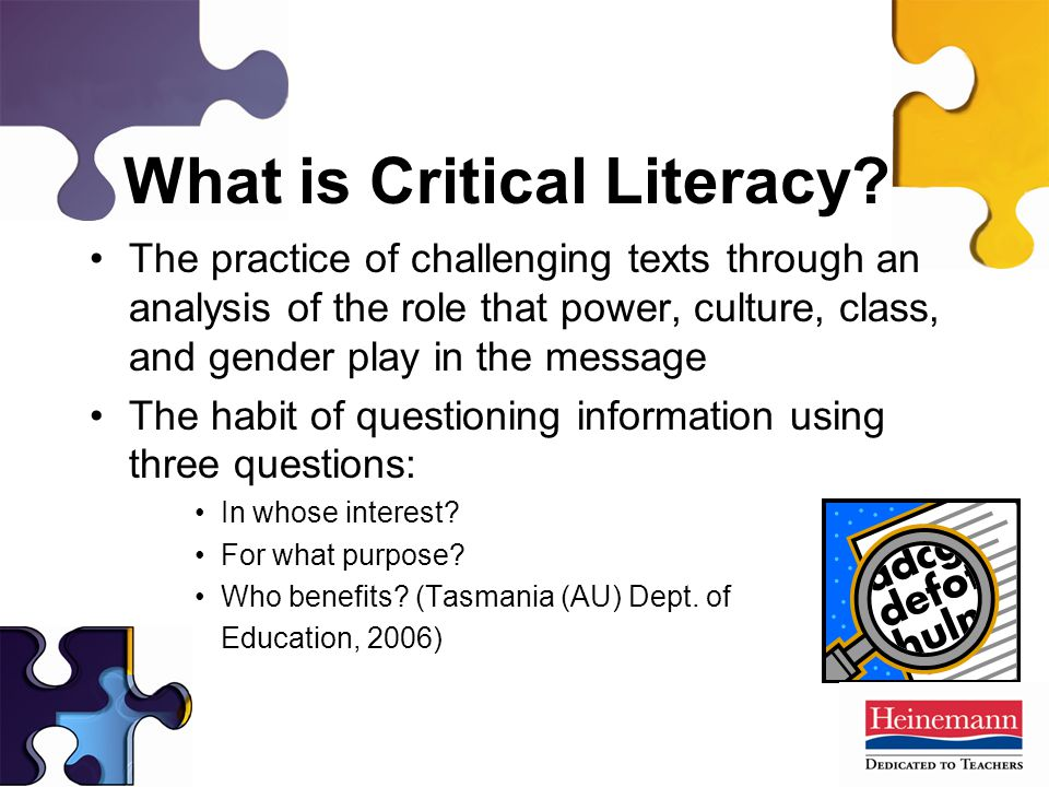 What is Critical Literacy.