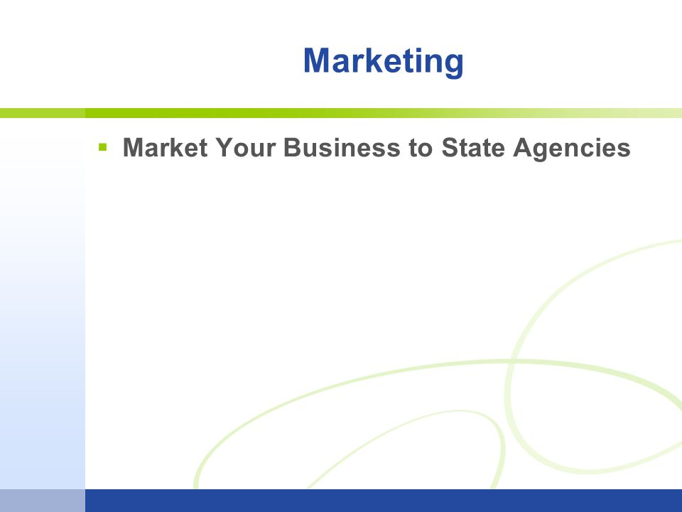  Market Your Business to State Agencies Marketing