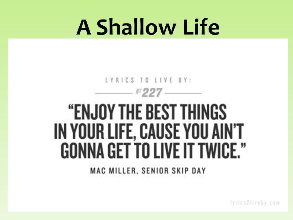 A Shallow Life