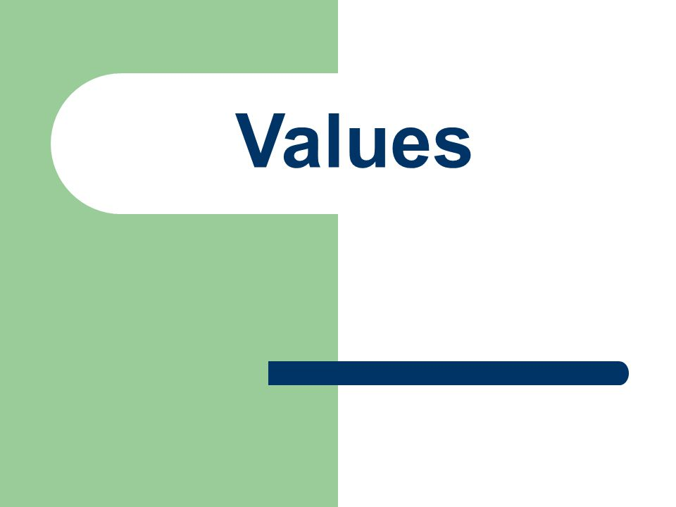 What are Values.Qualities, Characteristic or ideas about which we feel very strongly.