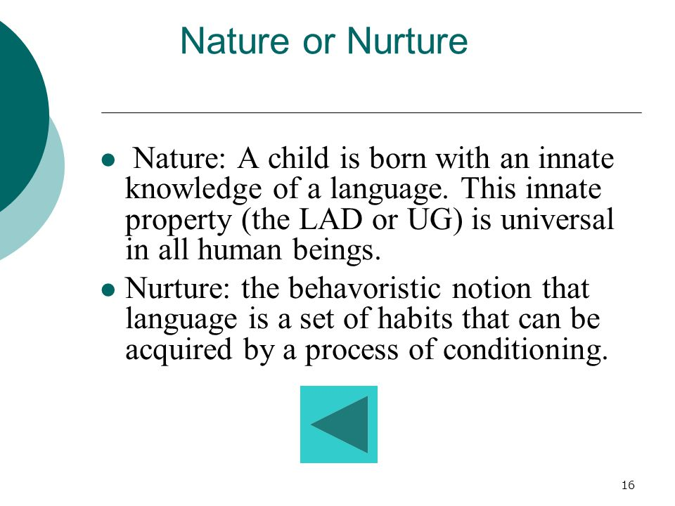 15 A child may understand a sentence with an embedded relative in it but not be able to produce one. W.R. Miller(1963) e.g., The ball that's in the sa