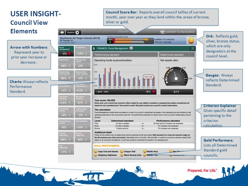 User Insight – Council View Graphic Chart Criterion Explainer Gauges