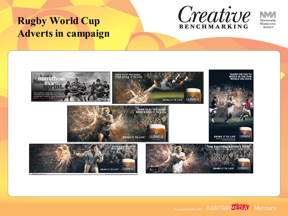 Rugby World Cup Adverts in campaign