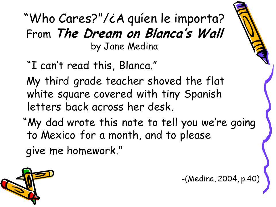 Who Cares /¿A quíen le importa.