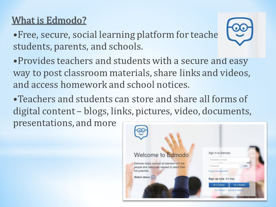 What is Edmodo.