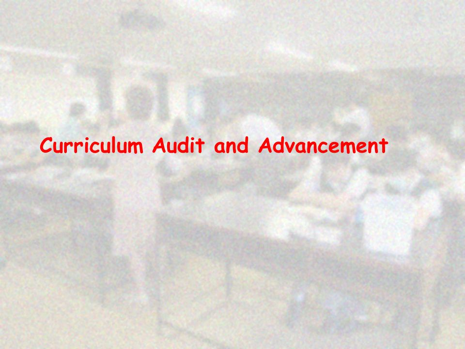 Curriculum Audit and Advancement