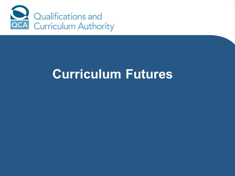 Curriculum Futures
