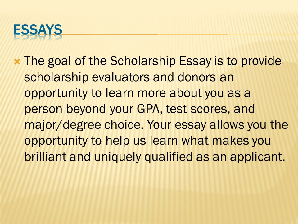 "essay on career goal The 5-step personal essay writing guide: ""future career help you reach larger goals in life colleges and scholarship organizations do not expect you to be."