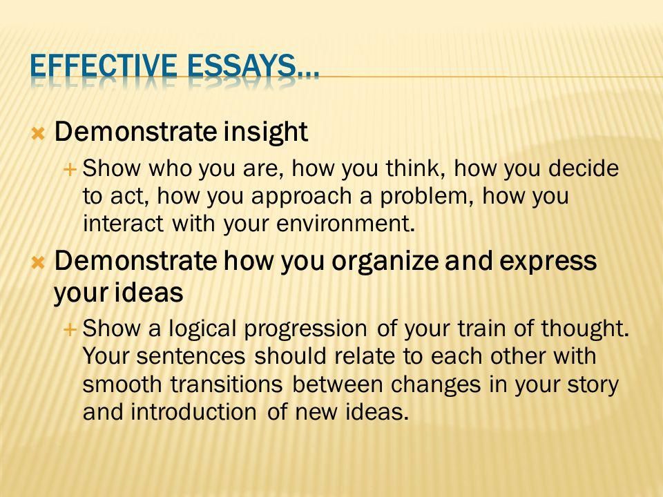  Demonstrate uniqueness  Show your unique attributes.
