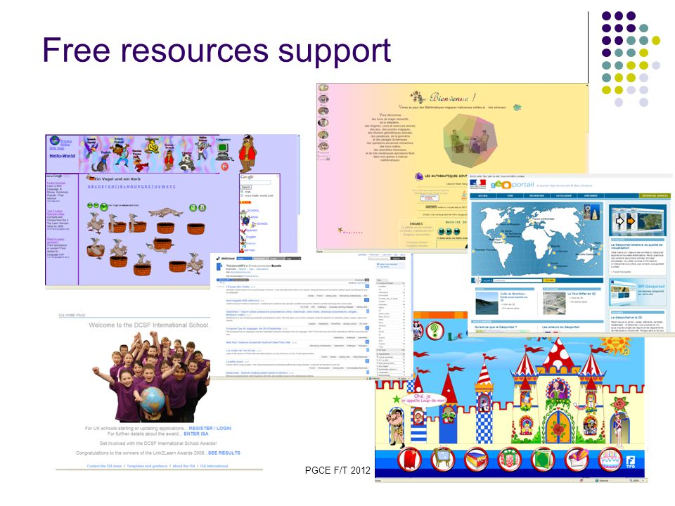 PGCE F/T 2012 24 Free resources support